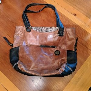 The Sak large leather shoulder bag